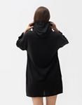 Εικόνα από Γυναικείο φούτερ οversized μακρύ Μαύρο