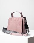 Εικόνα από Γυναικεία τσάντα ώμου σε συνδυασμό υλικών Μωβ