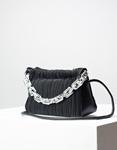 Εικόνα από Γυναικεία τσάντα ώμου & χιαστί με υφασμάτινο μοτίβο Μαύρο