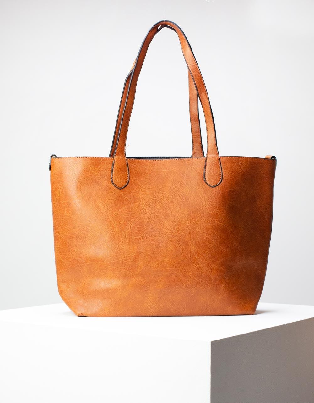 Εικόνα από Γυναικεία τσάντα ώμου με εσωτερικό τσαντάκι Ταμπά
