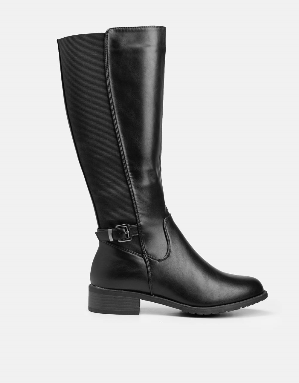 Εικόνα από Γυναικείες μπότες με λάστιχο στο πλαϊνό μέρος Μαύρο