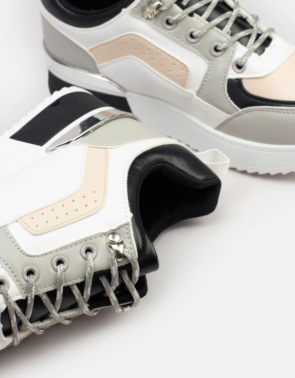 Εικόνα από Γυναικεία sneaker με δίχρωμες λεπτομέρειες Multi