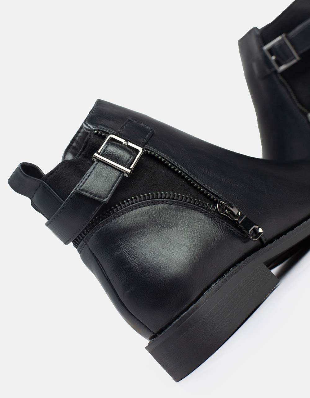 Εικόνα από Γυναικεία μποτάκια με φερμουάρ Μαύρο
