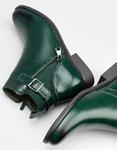 Εικόνα από Γυναικεία μποτάκια με φερμουάρ Πράσινο