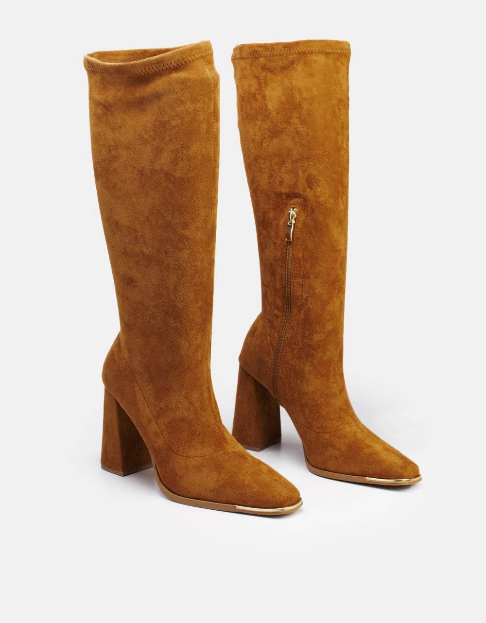 Εικόνα από Γυναικείες μπότες μονόχρωμες Ταμπά