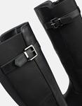 Εικόνα από Γυναικείες μπότες με λάστιχο και φερμουάρ Μαύρο