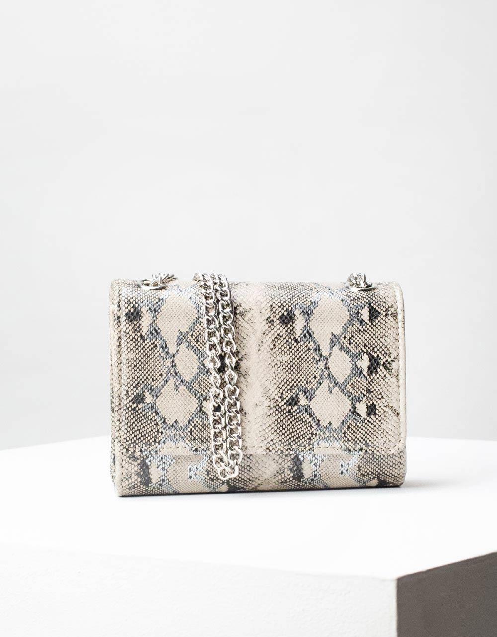 Εικόνα από Γυναικεία τσάντα ώμου & χιαστί animal print Πούρο