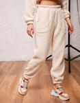 Εικόνα από Γυναικείο παντελόνι με τσέπες φούτερ Λευκό