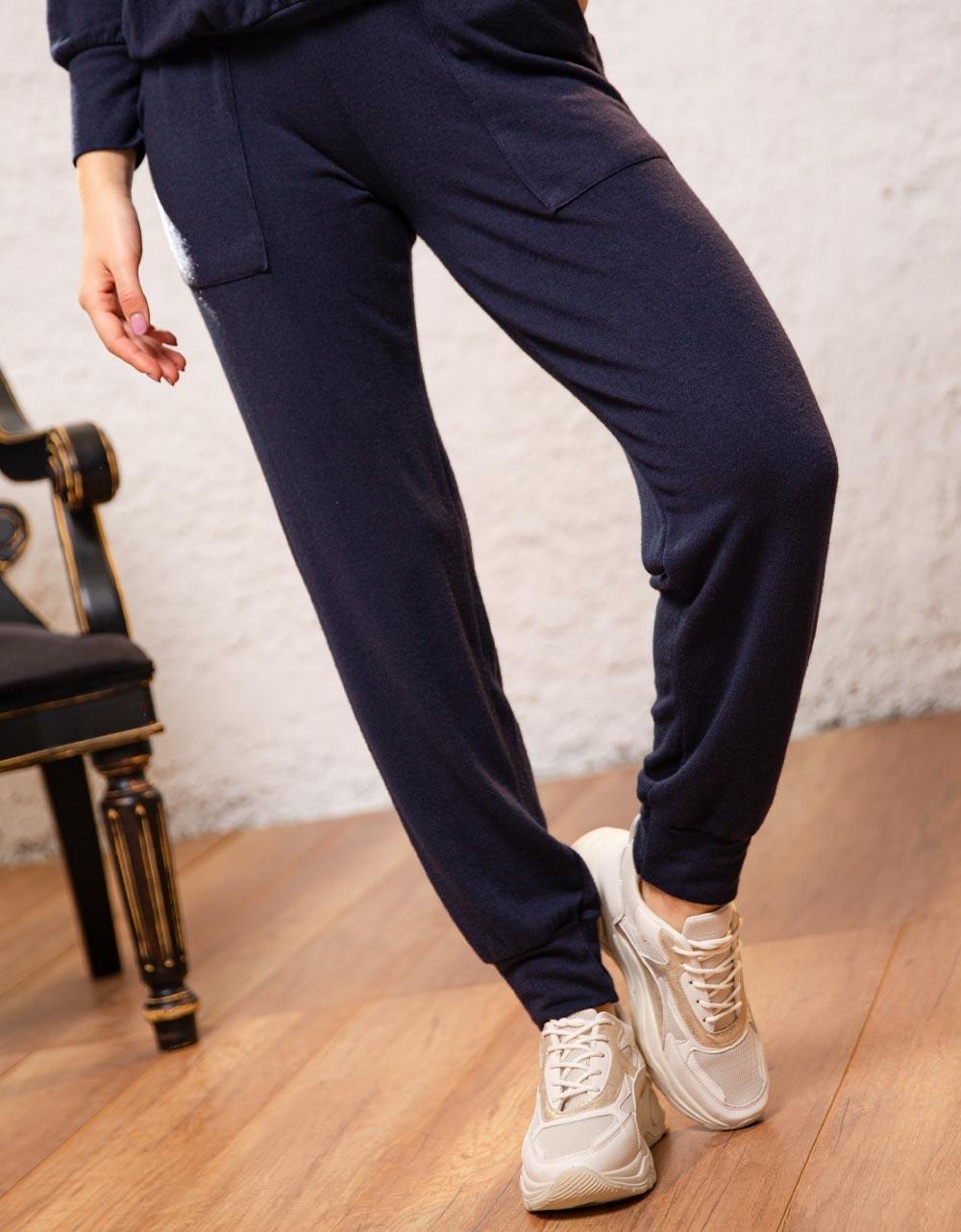 Εικόνα από Γυναικείο παντελόνι με λάστιχο Μπλε
