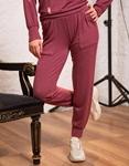 Εικόνα από Γυναικείο παντελόνι με λάστιχο Ροζ