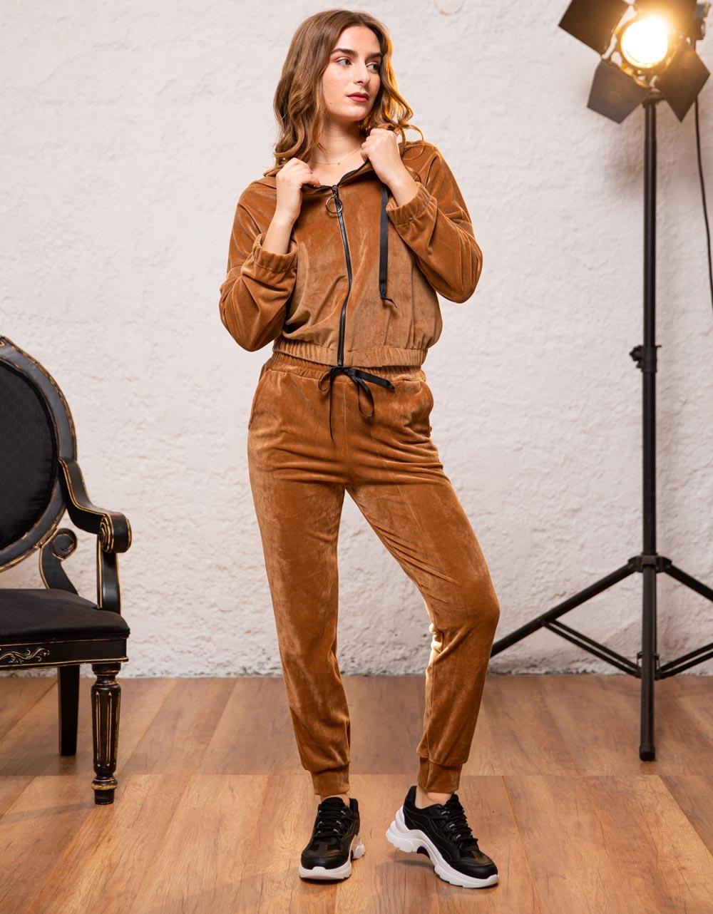 Εικόνα από Γυναικείο παντελόνι βελουτέ Ταμπά