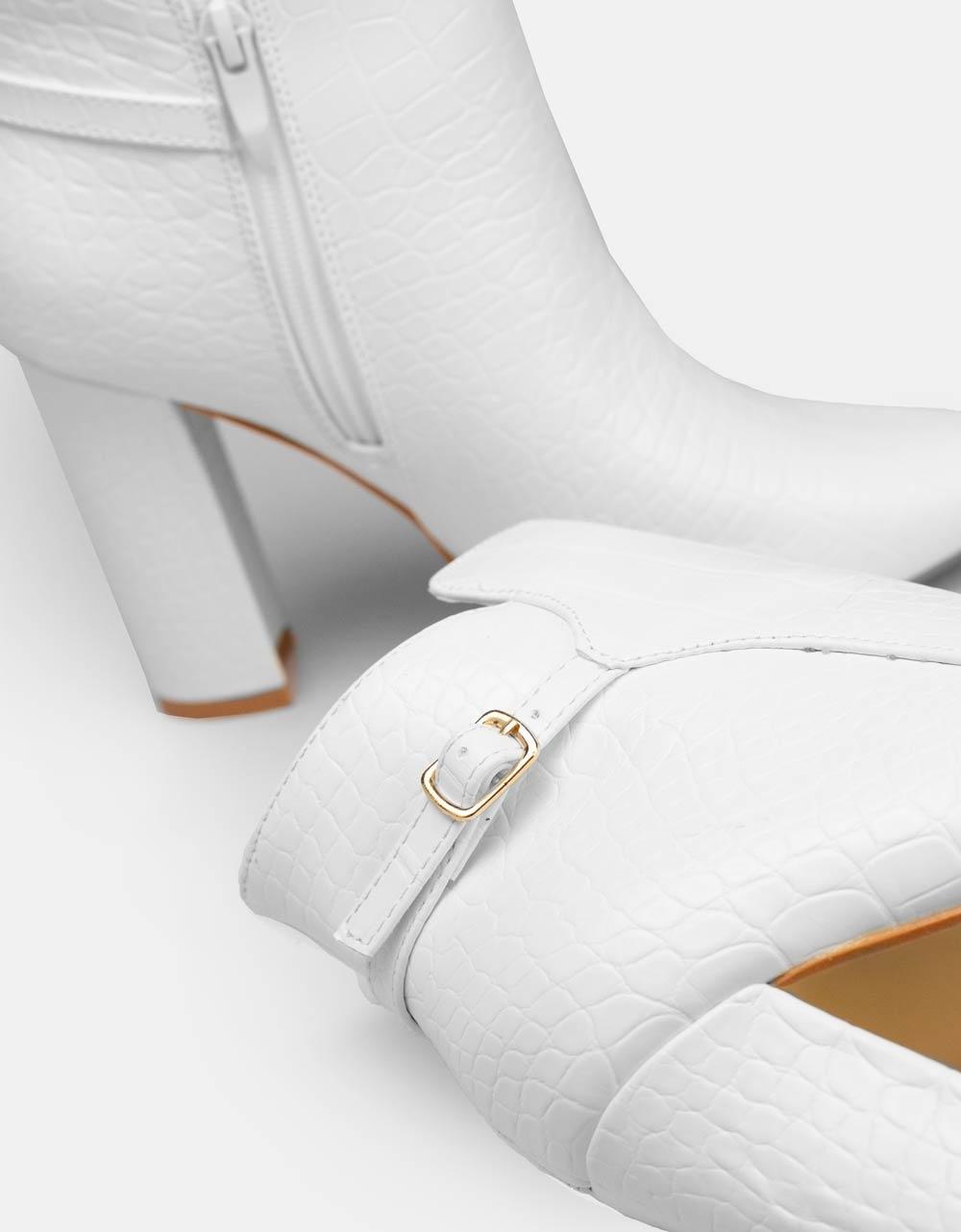 Εικόνα από Γυναικεία μποτάκια κροκό Λευκό