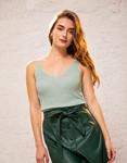 Εικόνα από Γυναικεία μπλούζα τοπ τιραντάκι lurex Τιρκουάζ