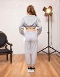 Εικόνα από Γυναικείο παντελόνι φούτερ με λάστιχο Γκρι