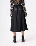 Εικόνα από Γυναικεία φούστα ψηλόμεση midi Μαύρο
