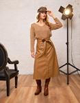 Εικόνα από Γυναικεία φούστα ψηλόμεση midi Ταμπά