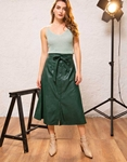 Εικόνα από Γυναικεία φούστα ψηλόμεση midi Πράσινο