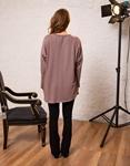 Εικόνα από Γυναικεία μπλούζα με σχέδια Μωβ