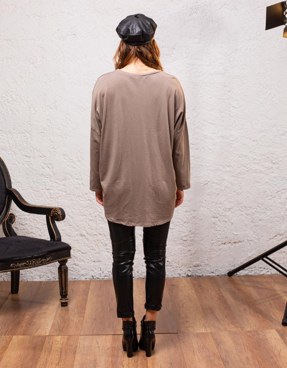 Εικόνα από Γυναικεία μπλούζα με τύπωμα Μπεζ