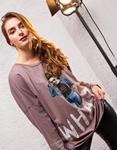 Εικόνα από Γυναικεία μπλούζα με τύπωμα Μωβ