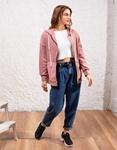 Εικόνα από Γυναικεία ζακέτα velvet Ροζ