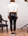 Εικόνα από Γυναικεία μπλούζα ζιβάγκο πλεκτή crop top Λευκό