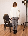 Εικόνα από Γυναικεία μπλούζα πλεκτή ζιβάγκο Λευκό