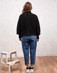 Εικόνα από Γυναικεία μπλούζα πλεκτή ζιβάγκο Μαύρο