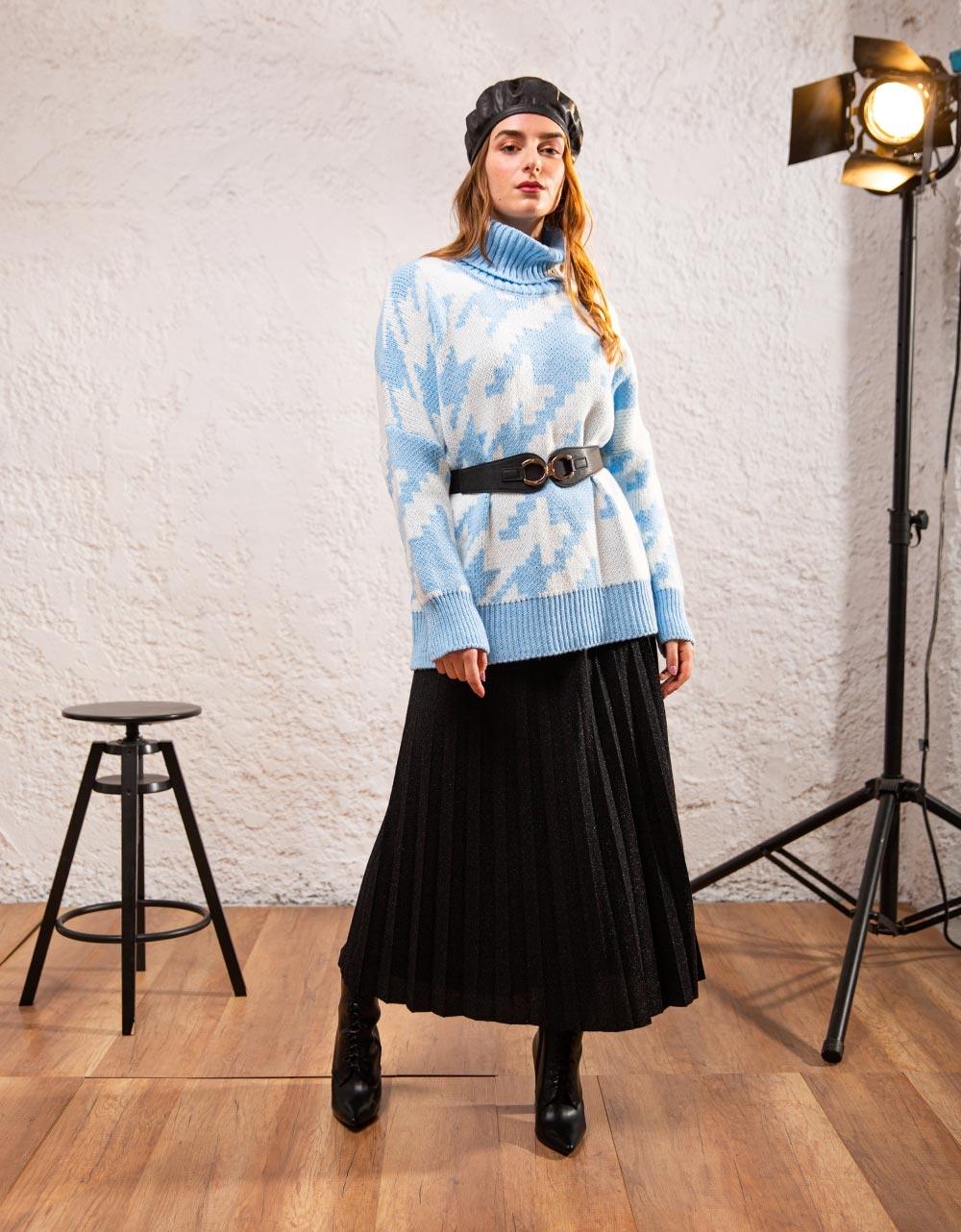 Εικόνα από Γυναικεία μπλούζα ζιβάγκο με σχέδια Σιέλ