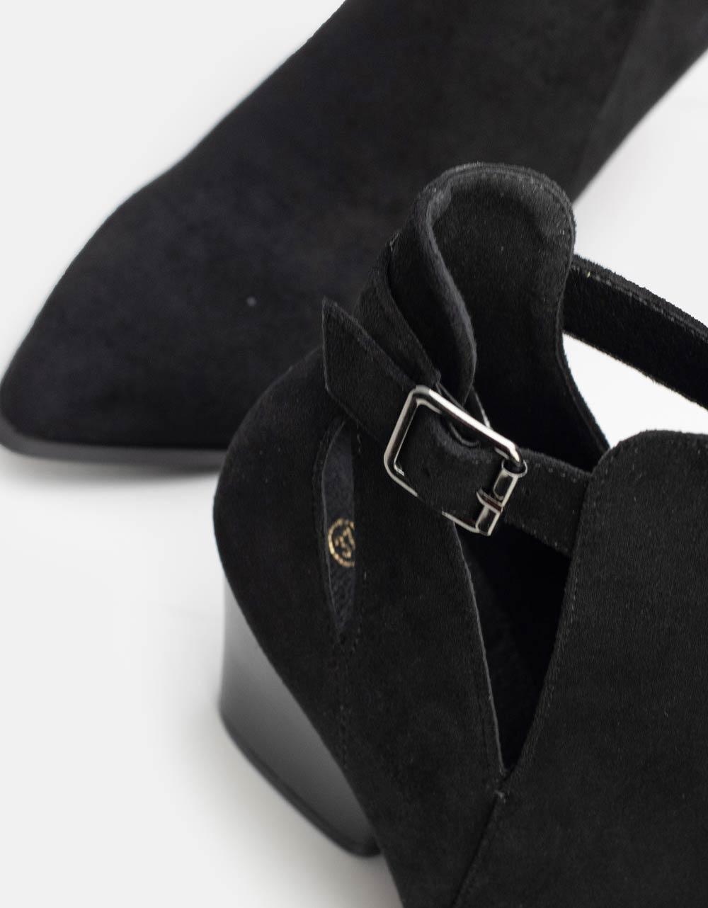 Εικόνα από Γυναικεία μποτάκια με λεπτομέρεια στο πλαϊνό μέρος Μαύρο