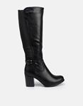 Εικόνα από Γυναικείες μπότες με τακούνι και διακοσμητικό τοκά Μαύρο