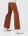 Εικόνα από Γυναικείο παντελόνι ψηλόμεσο καμπάνα Καφέ