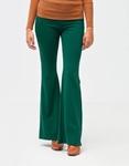 Εικόνα από Γυναικείο παντελόνι ψηλόμεσο καμπάνα Πράσινο