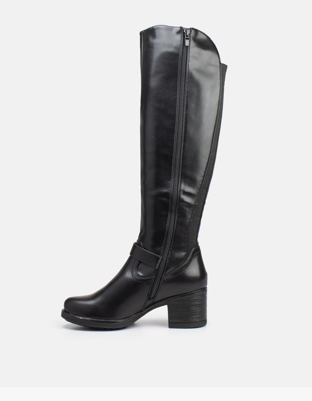 Εικόνα από Γυναικείες μπότες ελαστικές Μαύρο