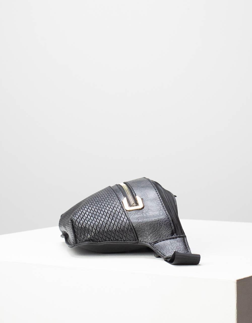 Εικόνα από Γυναικεία τσάντα μέσης με δύο θήκες Μαύρο