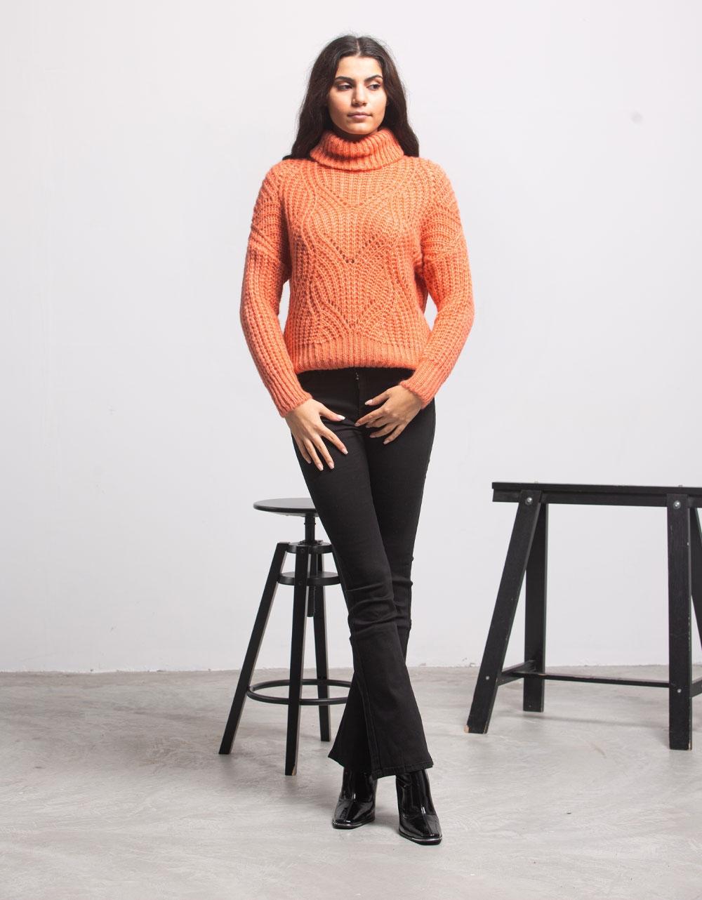 Εικόνα από Γυναικεία μπλούζα πλεκτή Ροζ