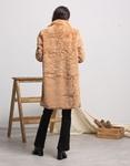 Εικόνα από Γυναικείo παλτό από οικολογική γούνα Μπεζ
