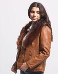 Εικόνα από Γυναικείo μπουφάν με αποσπώμενο γουνάκι στην κουκούλα Ταμπά