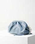 Εικόνα από Γυναικεία τσάντα ώμου & χιαστί με λουράκι πέρλες Μπλε