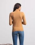 Εικόνα από Γυναικεία μπλούζα ζιβάγκο Κάμελ