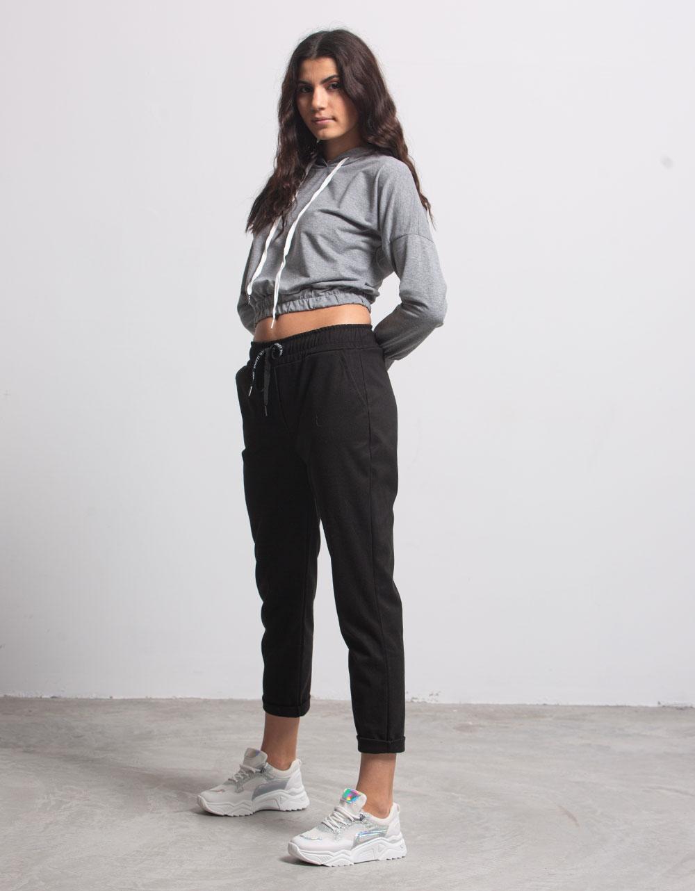 Εικόνα από Γυναικεία μπλούζα με λάστιχο Γκρι