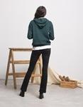 Εικόνα από Γυναικεία μπλούζα με κουκούλα Πράσινο