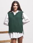 Εικόνα από Γυναικεία μπλούζα γιλέκο πλεκτό Πράσινο