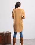 Εικόνα από Γυναικεία μπλούζα με ασύμμετρο σχέδιο Μπεζ