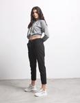 Εικόνα από Γυναικείο παντελόνι σε απλή γραμμή Μαύρο