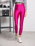 Εικόνα από Γυναικείο παντελόνι κολάν γυαλιστερό Φούξια