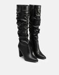Εικόνα από Γυναικείες μπότες με σούρες μυτερές Μαύρο