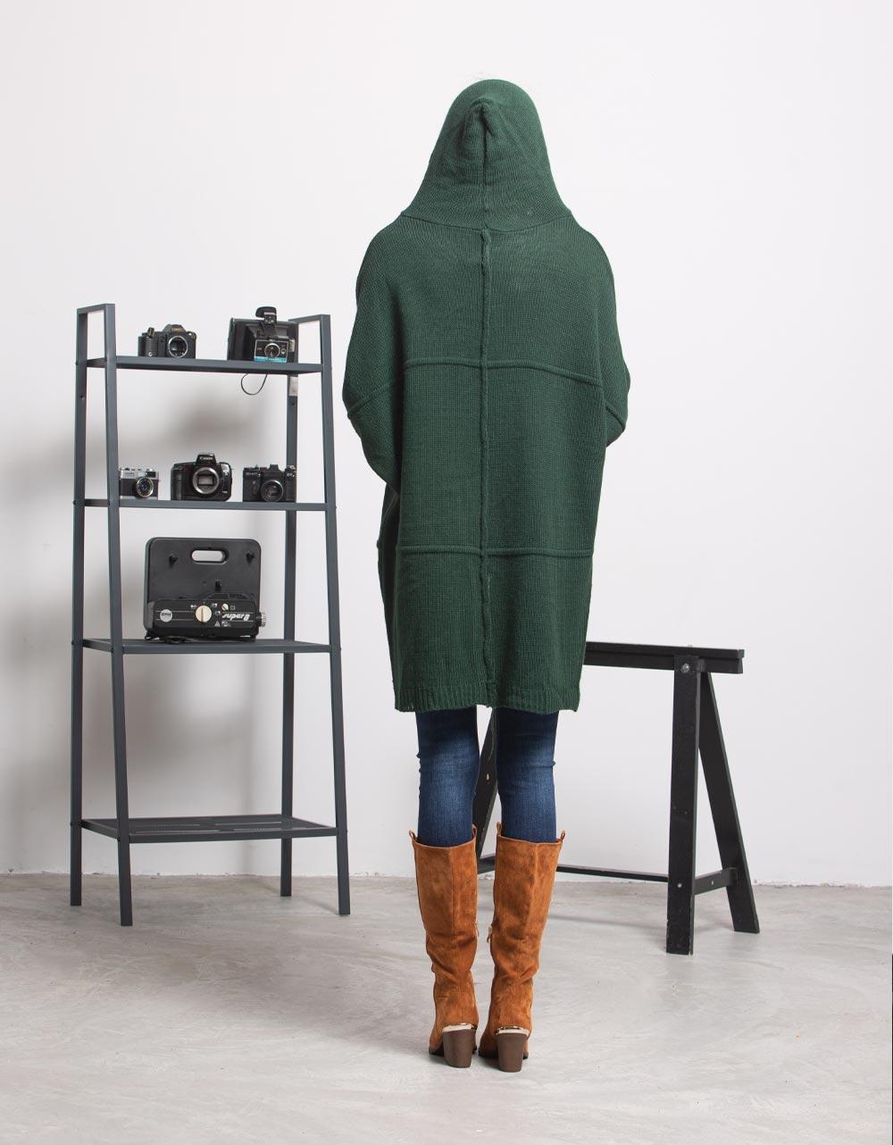Εικόνα από Γυναικεία ζακέτα μακριά Πράσινο