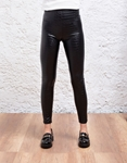 Εικόνα από Γυναικείο παντελόνι με κροκό σχέδιο ψηλόμεσο Μαύρο