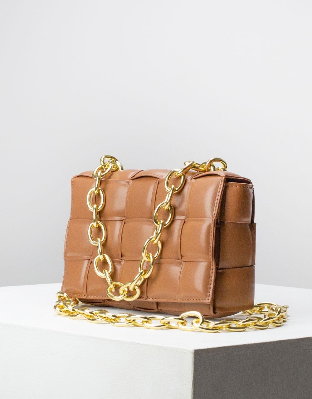 Εικόνα από Γυναικεία τσάντα ώμου & χιαστί καπιτονέ Ταμπά